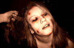 Battered woman / staged photography, not actual abuse