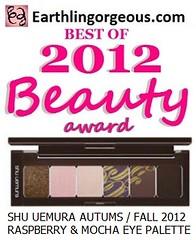 EG Beauty Awards 2012 Shu Uemura Raspberry Mocha Eye Palette