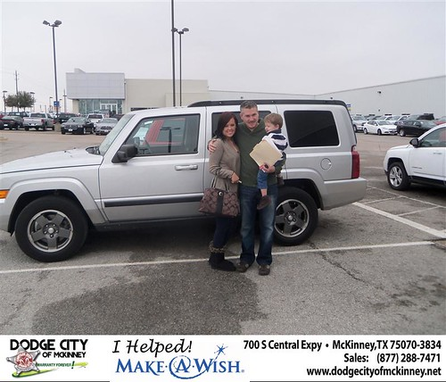 Congratulations to JEFFREY CATON  on the 2007 JEEP COMMANDER  by Dodge City McKinney Texas