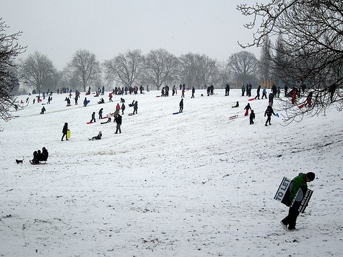 Hilly Fields in the snow