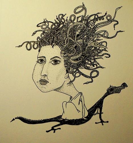 Medusa Gorgona (Illustration Friday: MYTH)