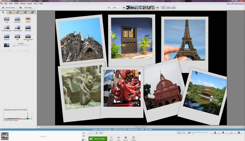 Creating a collage in Picasa