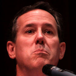 Rick Santorum, looking pouty