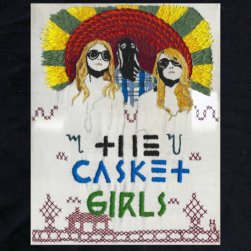 Artwork for an upcoming Casket Girls release