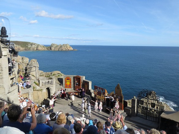 best UK beaches Minack Theater