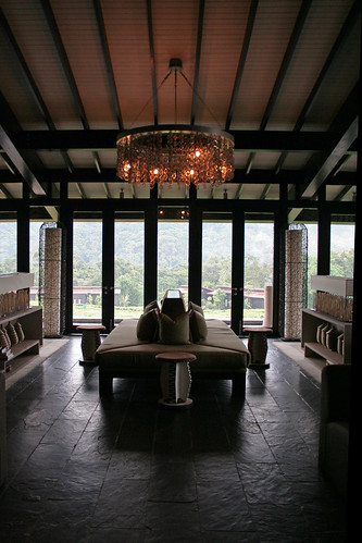 entrance at Nyungwe Forest Lodge lobby
