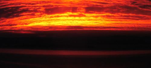 sunset 24 jan 2013