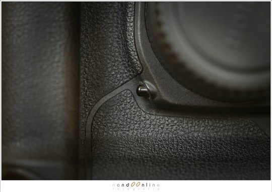 Scherptediepte controle knop op een Canon EOS 5D