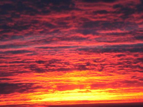 flaming sky 24 jan 2013