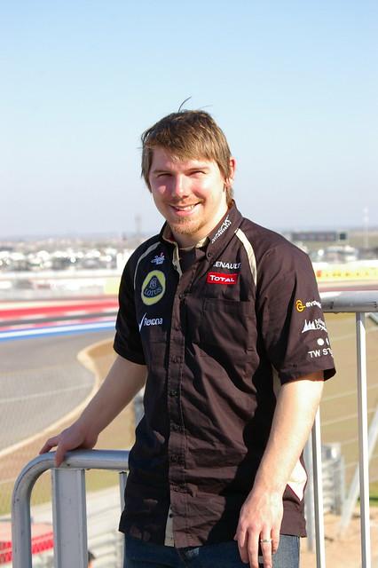 Derek Supporting the Lotus F1 Team