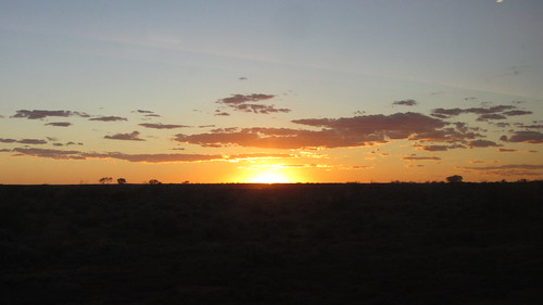 second sunset on the indian pacific