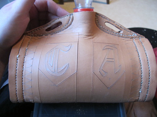 leather costrel 17