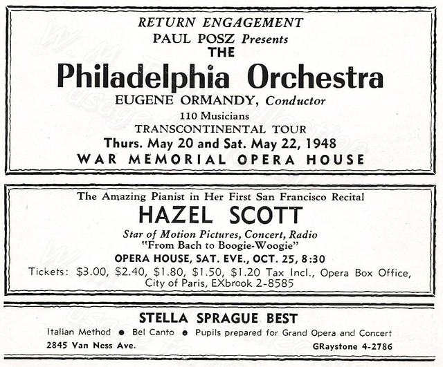 Philadelphia Orchestra ~ San Francisco advertisement: