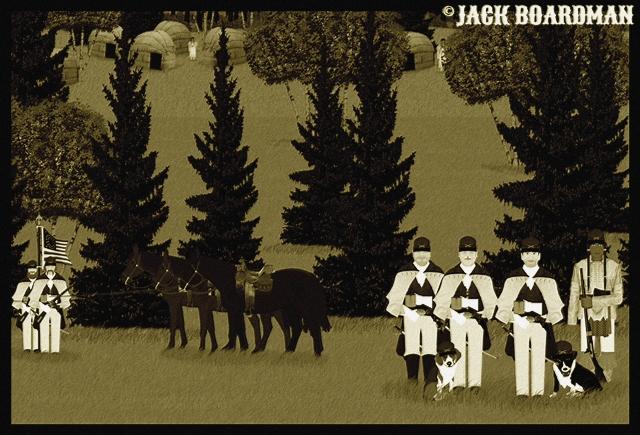 Cooper & Company arrive at the Ojibwe village