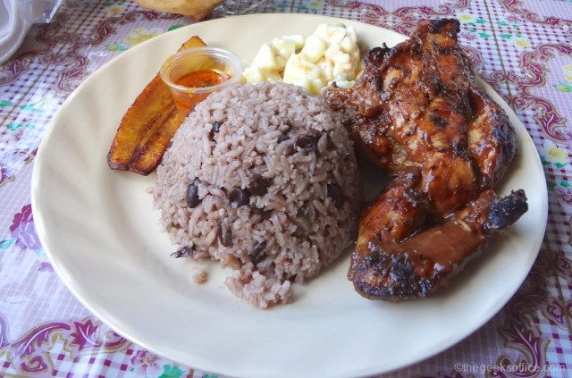 Chicken, Rice and Plantains
