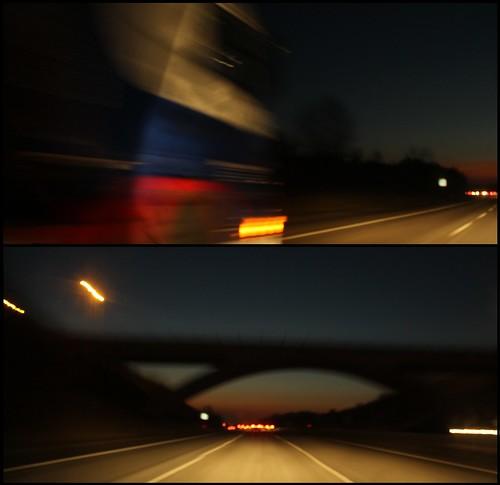 Night Trucking - Diptych - 1 by TempusVolat