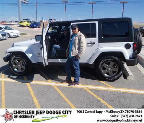 Congratulations to Jose Valente on the 2013 Jeep Wrangler by Dodge City McKinney Texas