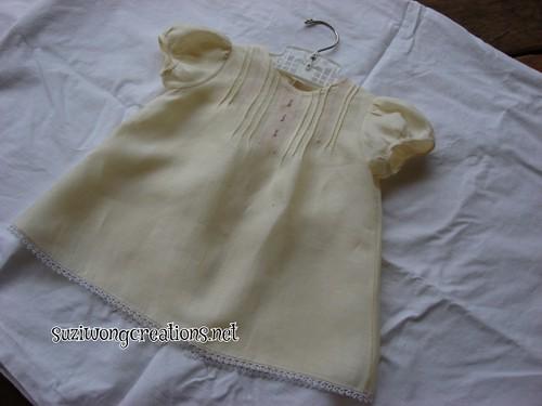 yellow linen bunny dress - creative needle