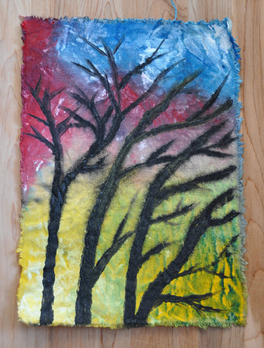 Wet Canvas Painting
