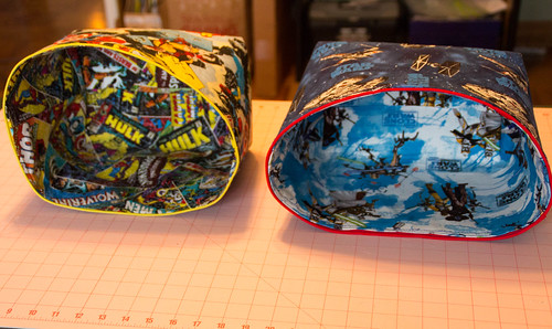 Fabric Baskets for nephews