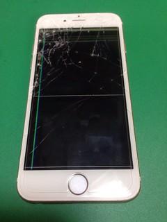 161_iPhone6のフロントパネル液晶割れ