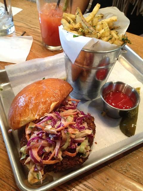 Fried chicken sandwich - Hi Tops