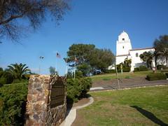 California Historical Landmark No. 59 - San Diego Presidio Site, with view of Serra Museum by jawajames