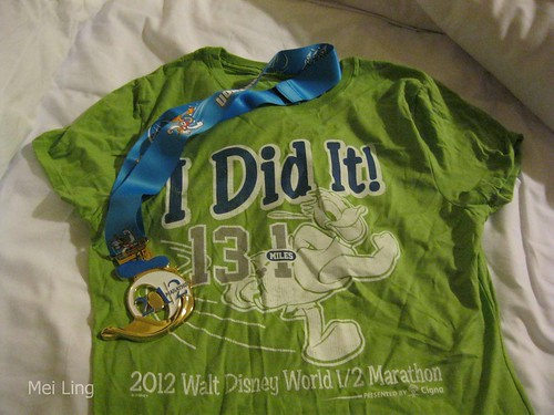 medal and t-shirt