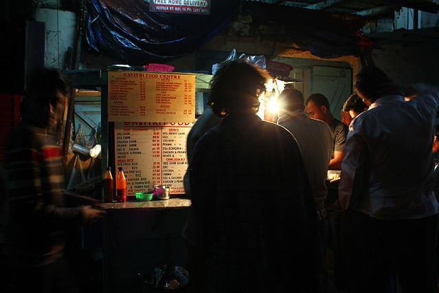 A very popular street food stall in Kolkata