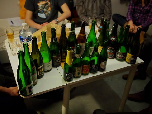 18 Bottle Gueuze Tasting - Ghent Belgium