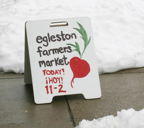 Egleston Market sign