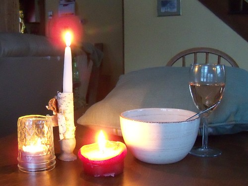 supper by candlelight
