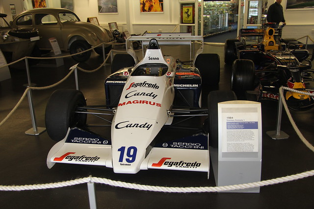 Ayrton Senna's 1984 Toleman F1 car at The Donington Collection