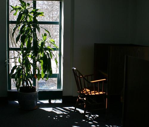 Corner chair - Robbins Library