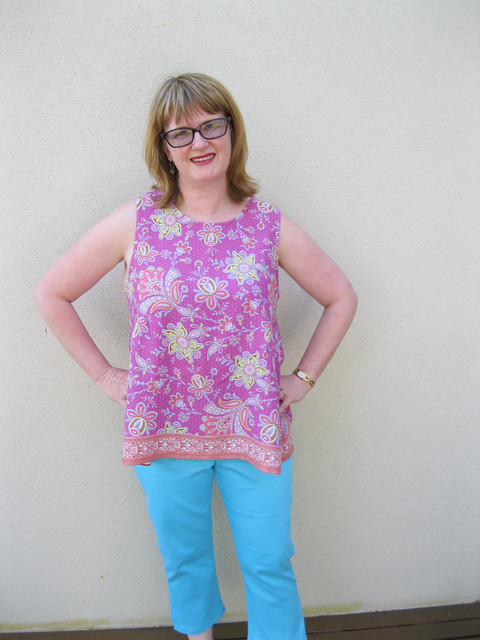 Tessuti Valerie Top with StyleARC Tori Crop Pant