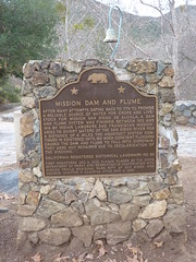 California Historical Landmark No. 52: Mission Dam and Flume by jawajames