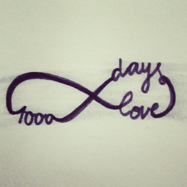 1000 days of love with @samuelbackman_ #infinitelove #love #loveyou #1000days #drawing