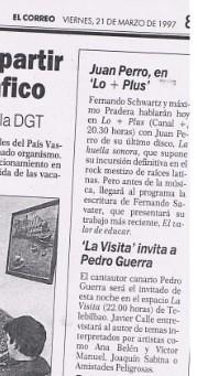 Reseña prensa LaVisita Diario El Correo 21 Marzo 1997 by LaVisitaComunicacion