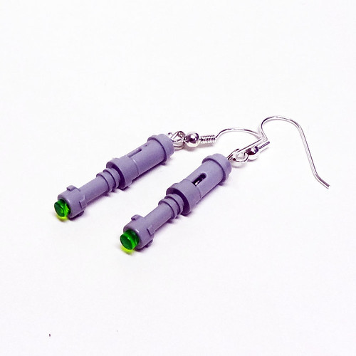 LEGO Green Sonic Screwdriver Earrings