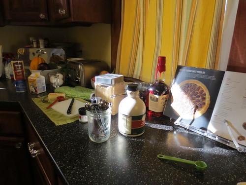 Bourbon Sweet Potato Pie - prep