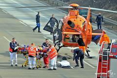 Lkw-Unfall A3 Flughafen 08.03.13