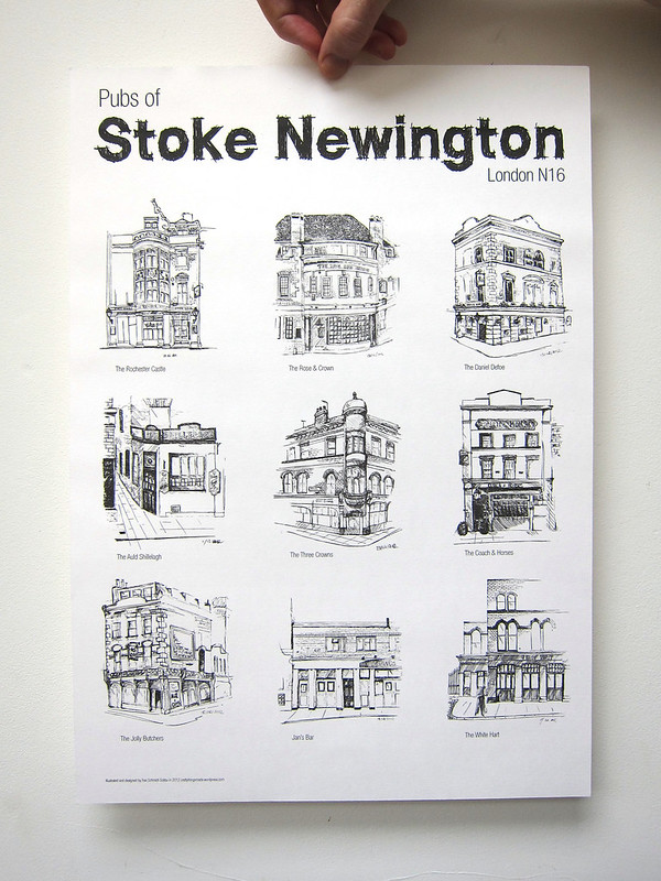 'Pubs of Stoke Newington' Poster