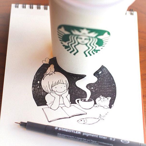 starbucks-cups-3d-drawings-tomoko-shintani-1