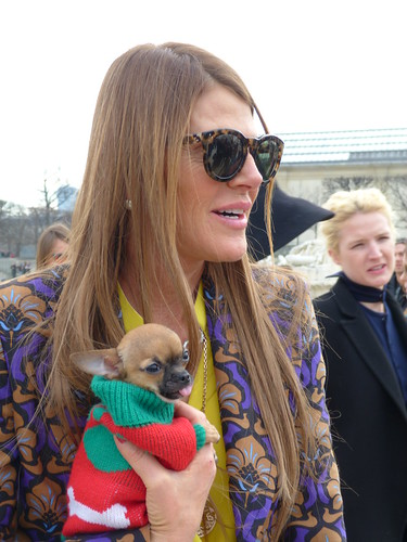 Anna Del Russo with her dog