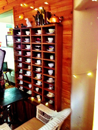 A whole wall of tea cups!