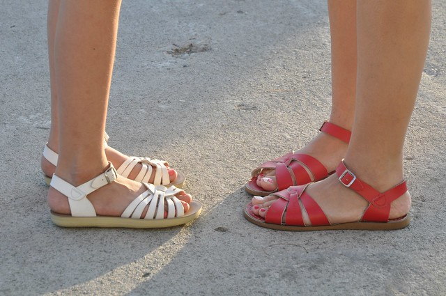 Mom and Daughter SaltWater Sandals