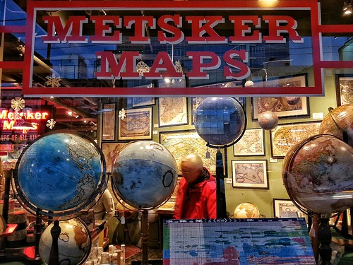 Famous Metzger's Maps, Seattle. by pgsvensk