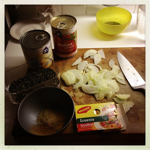 Preparing Modern Moroccan Cinnamon-scented Chickpea & Lentil Soup
