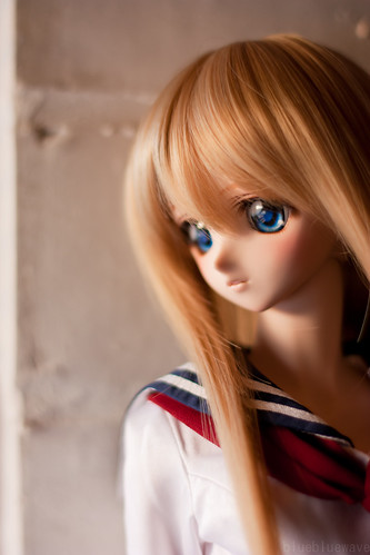 Shizuko in school sailor uniform