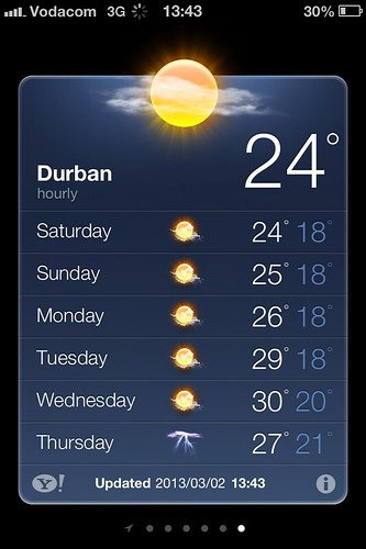 Hot in Durban